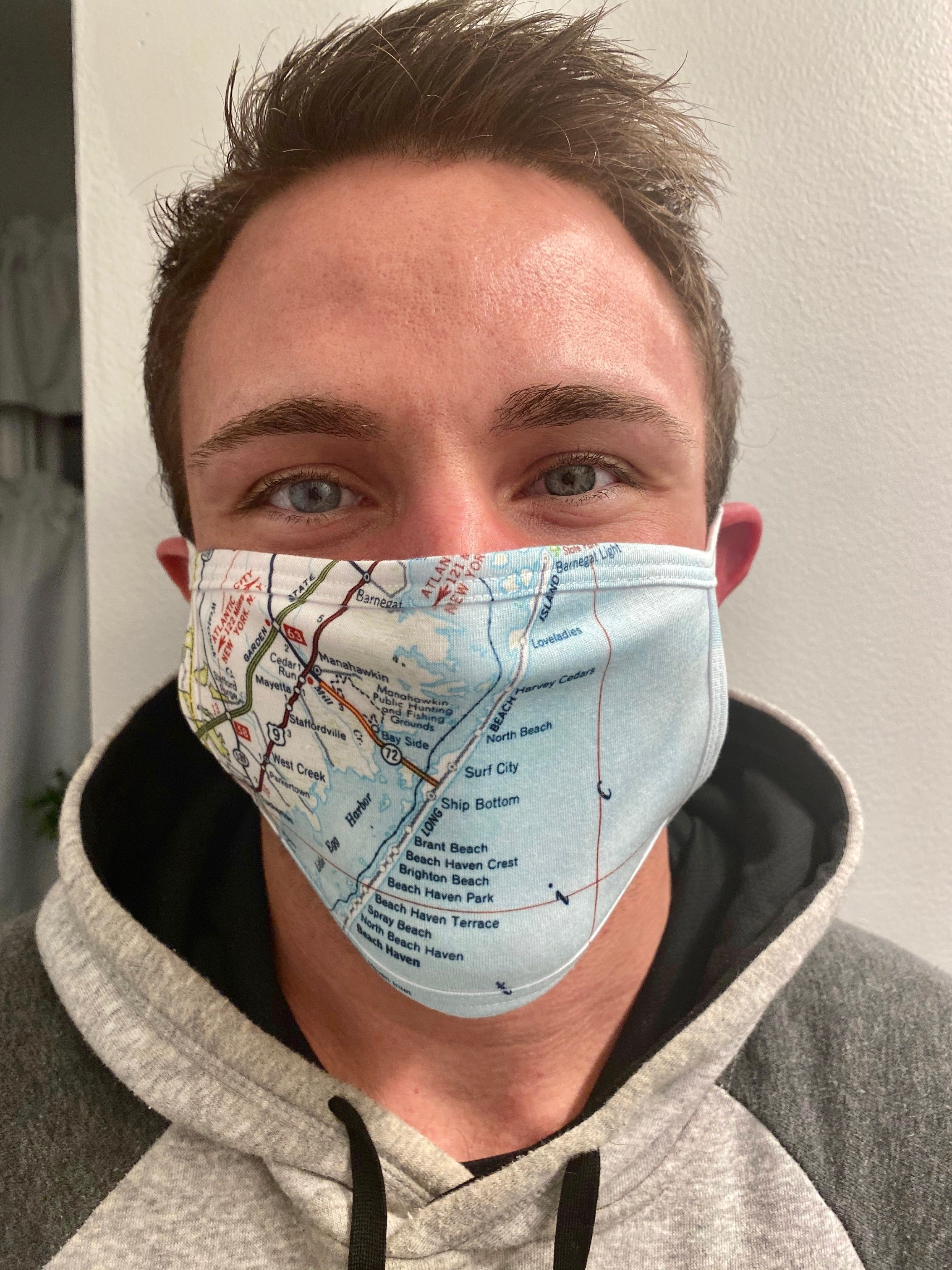 LBI Map Face Mask