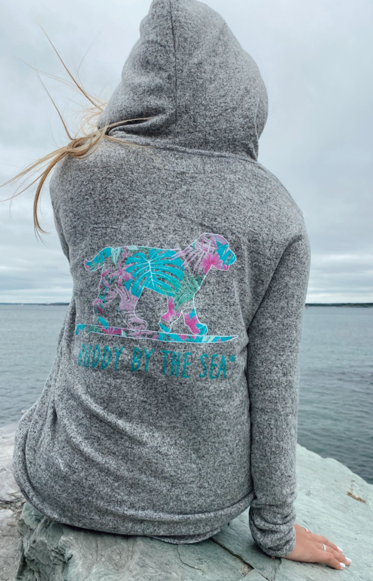 Ladies Grey Key West Zen Pullover