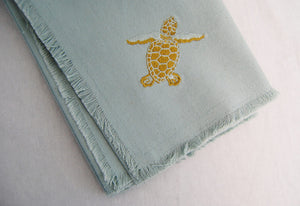 Embroidered Baby Sea Turtle Napkins