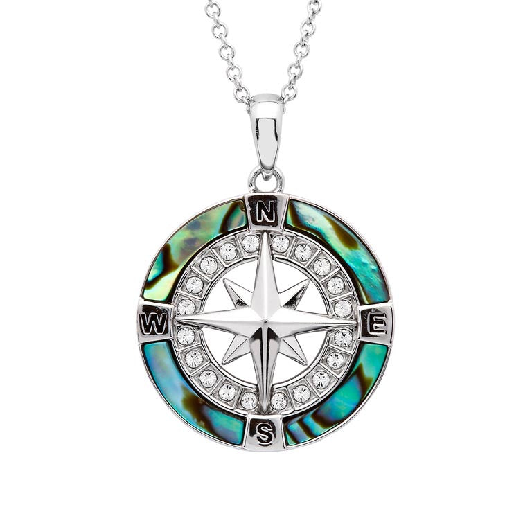 Abalone Compass Necklace
