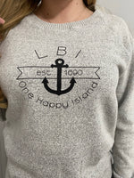 Load image into Gallery viewer, LBI One Happy Place  Crew Sweater