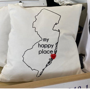My Happy Place Pillow