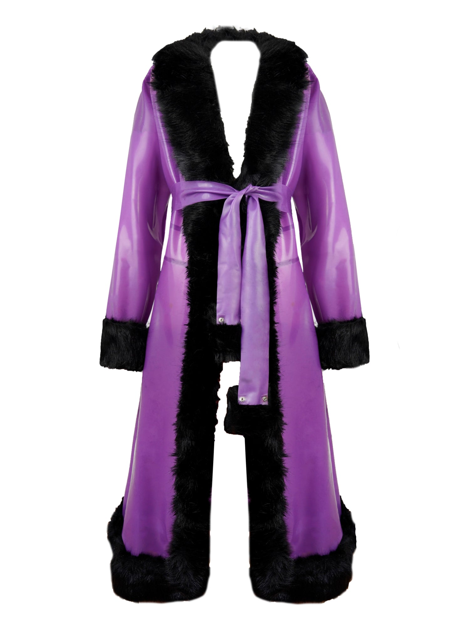 Studio Fclx Latex Fur Coat
