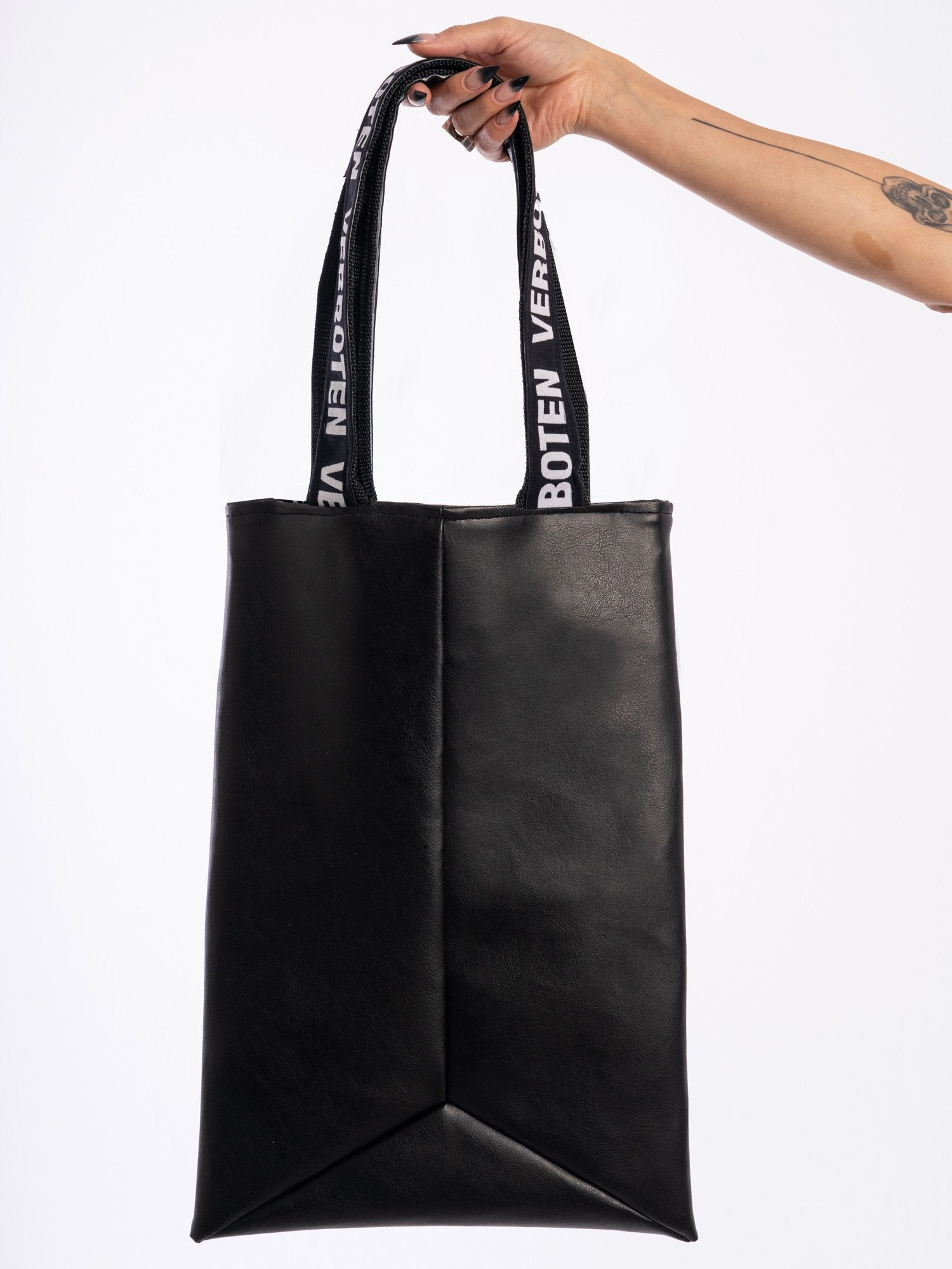 Hanny Amin Vian Vegan Leather Verboten Strap Bag