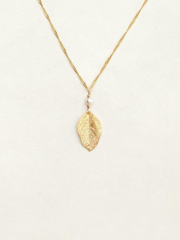 Holly Yashi Healing Leaf Pendant Necklace