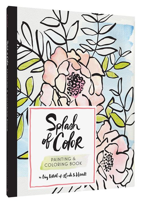 Watercolor Painting & Coloring Book