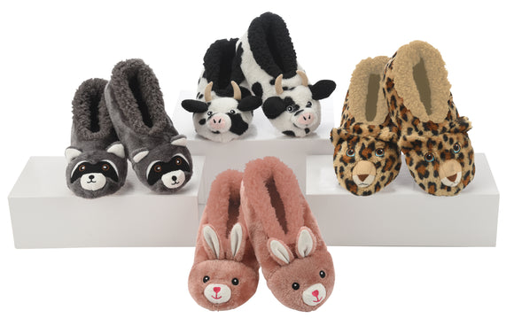 Snoozies-Furry Critter Slippers