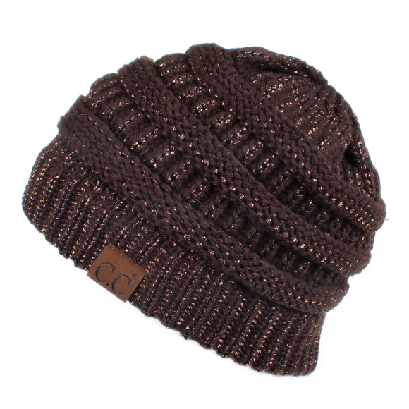 Knitted Shimmer Beanie