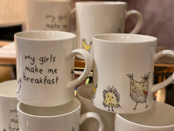 My Girls Make Me Breakfast Coffee Mug