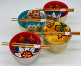 Asian Bowls w/ Chopstick