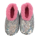 Snoozies- KIDS Sequin Reverse Slippers