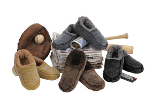 Snoozies- Men's Solid Fuzzy Slippers