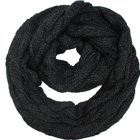 Knitted Shimmer Scarf