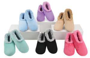 Snoozies-Solid Plush Slippers