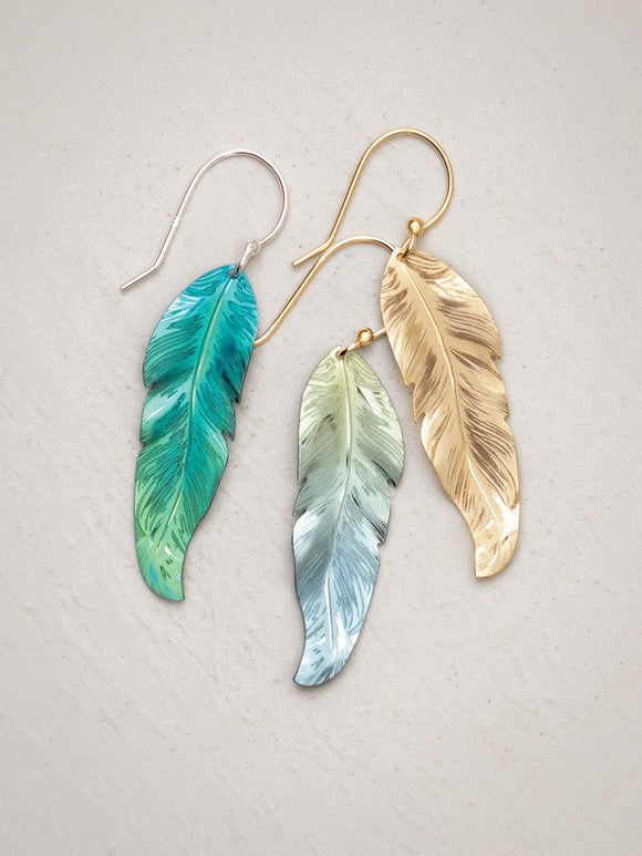 Holly Yashi - Petite Free Spirit Feather Earring