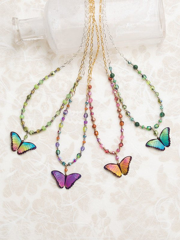 Holly Yashi Bella Butterfly Beaded Necklace