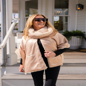 3 in 1 Faux Fur Cowl Neck Wrap by Pretty Rugged