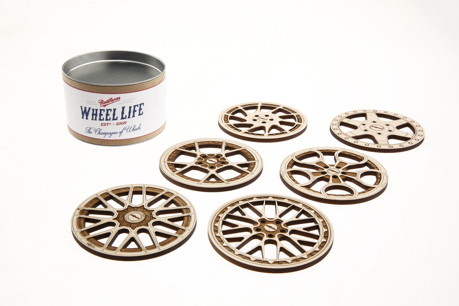 Rotiform Wheel Coasters - Version 2.0