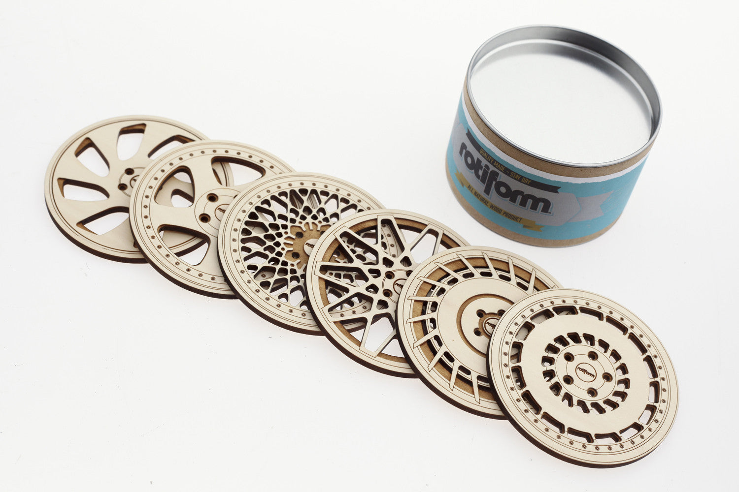 Rotiform Wheel Coasters