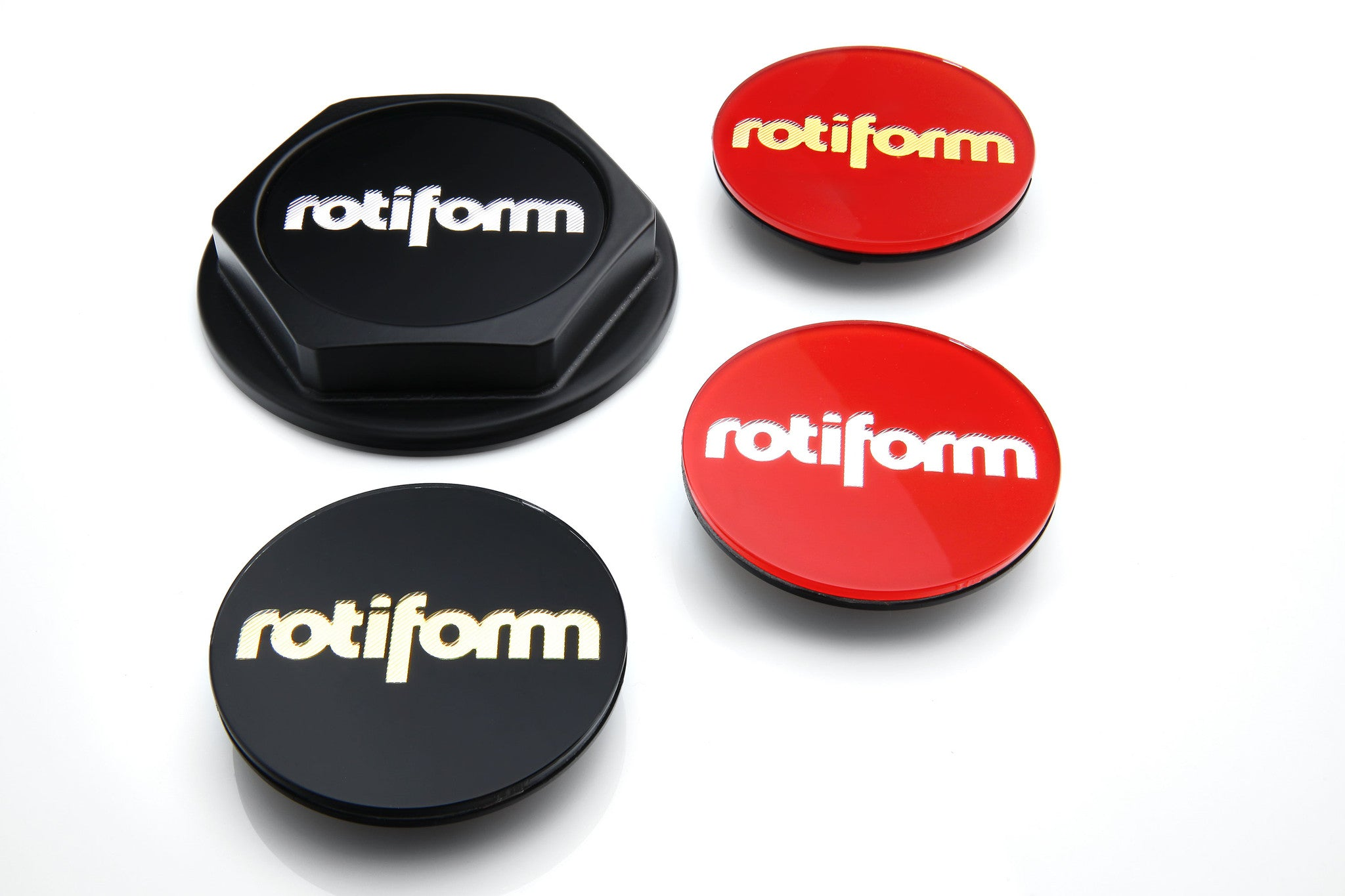 Rotiform Hex Colored Center Caps