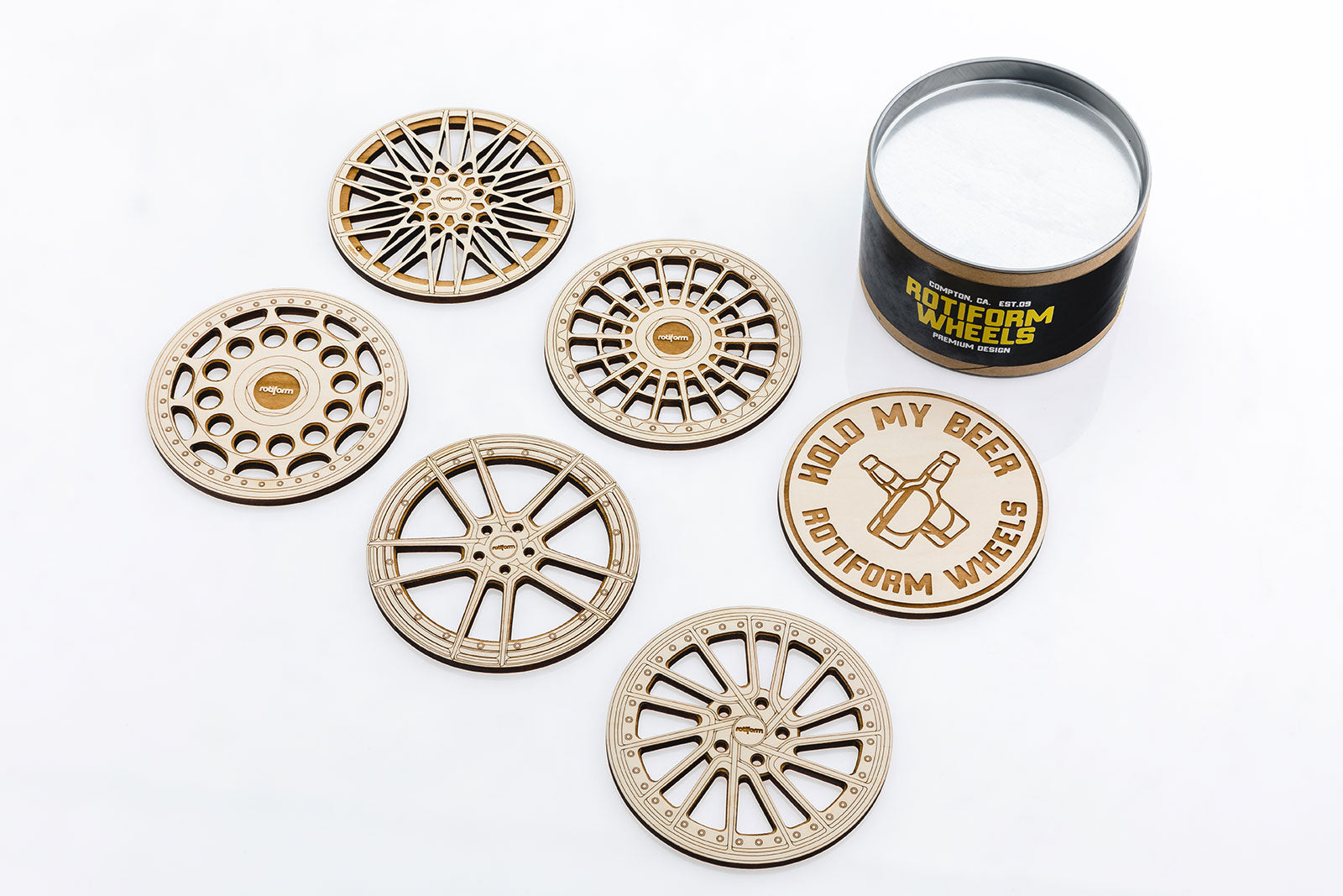 Rotiform Wheel Coasters - Version 3.0