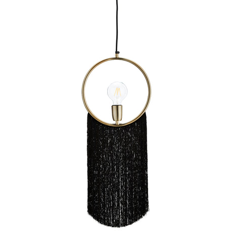 Pendant lamp with tassels