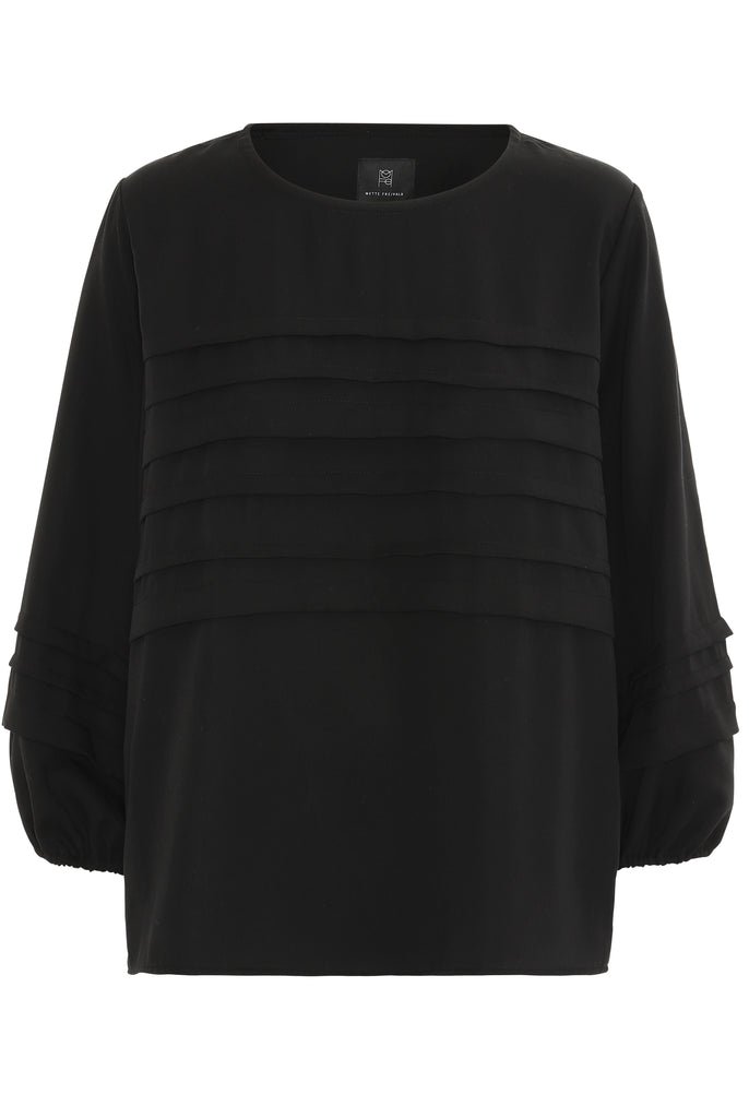 CHARLOTTE TENCEL BLOUSE - BLACK