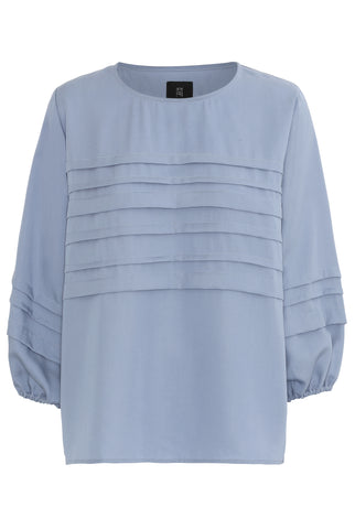 CHARLOTTE TENCEL BLOUSE - LIGHT BLUE