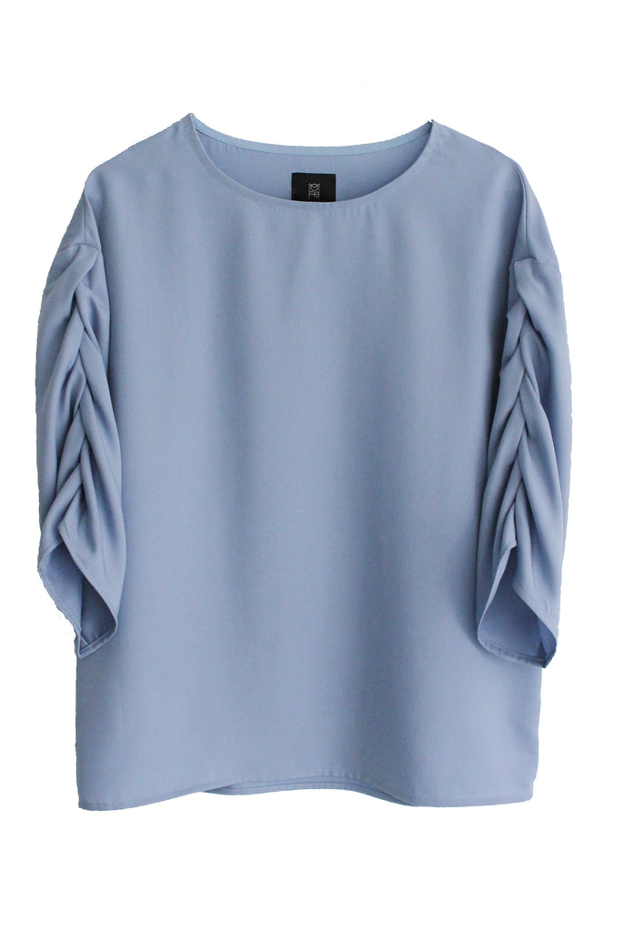 GABY TENCEL BLOUSE - LIGHT BLUE