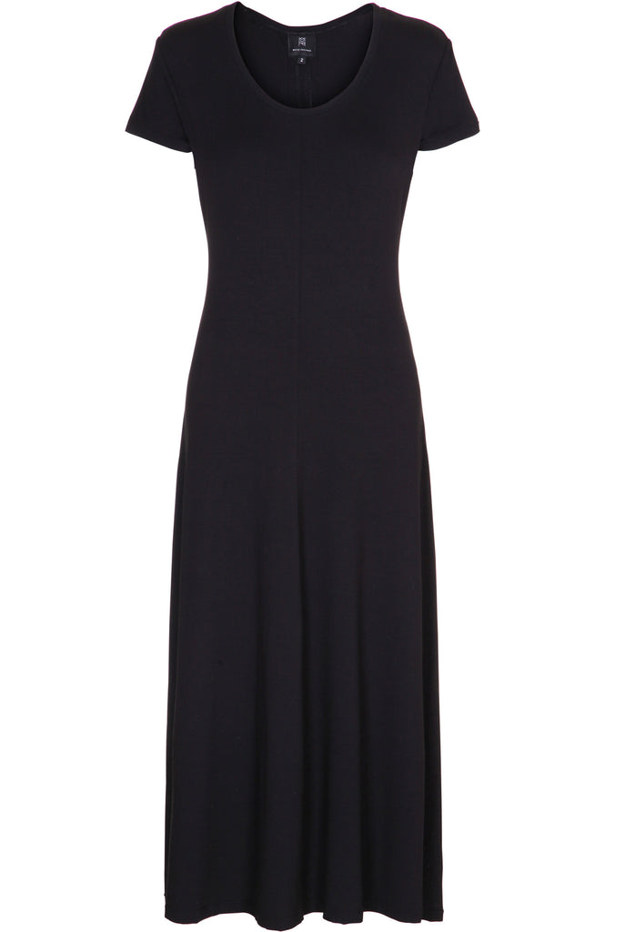 LONG SOFT DRESS WITH ZIPPER DETAIL
