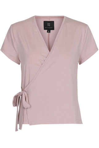 LIZ WRAP BLOUSE - DUSTY ROSE