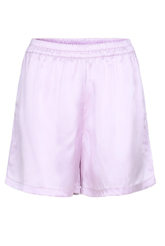 OLIVIA SILK SHORTS - PURPLE