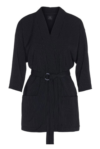 PINSTRIPED KIMONO JACKET - SOLD OUT