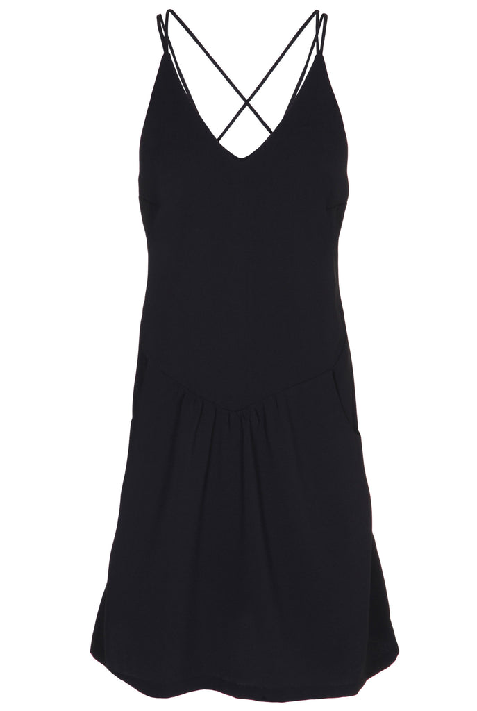 V-NECK DRESS WITH SPAGHETTI STRAPS - SOLD OUT