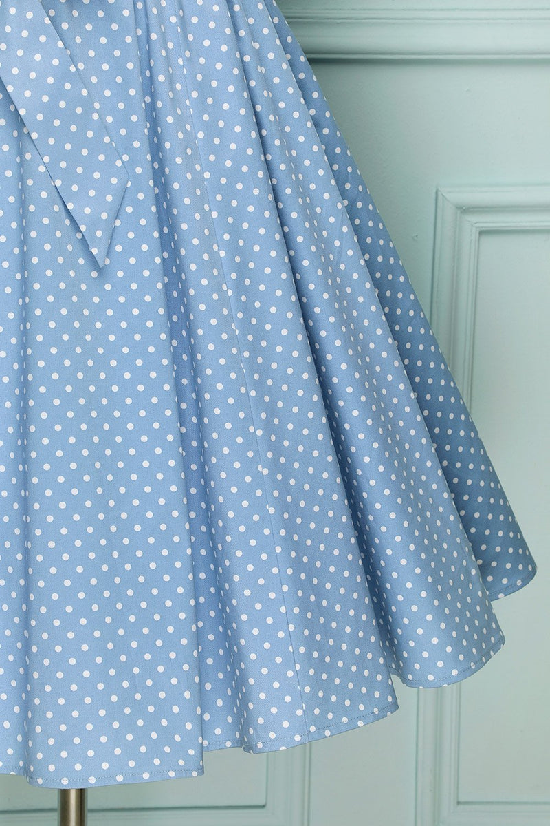 Load image into Gallery viewer, Off-shoulder Polkadot Swingkjole