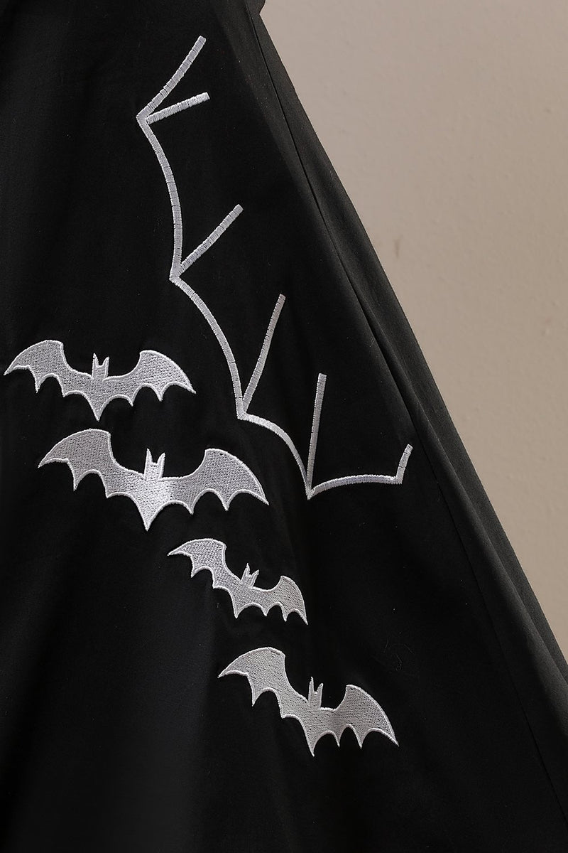 Load image into Gallery viewer, halloween bat print kjole