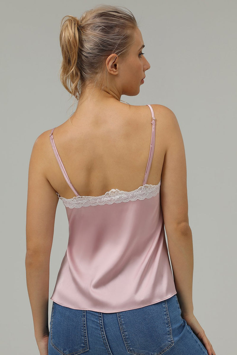 Load image into Gallery viewer, foran knapp blonder rosa tank top