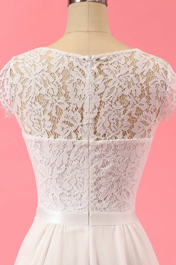 Formell Blonde Lace Ruffle Kjole