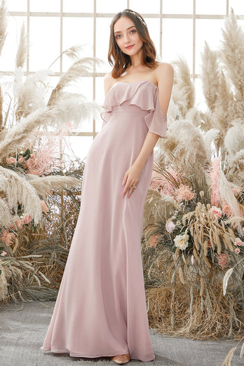 Elegant Off The Shoulder Chiffong Brudepikekjole