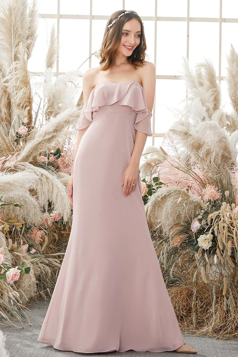 Load image into Gallery viewer, Elegant Off The Shoulder Chiffong Brudepikekjole