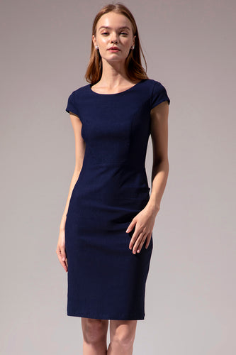 Navy Bodycon Mor Kjole