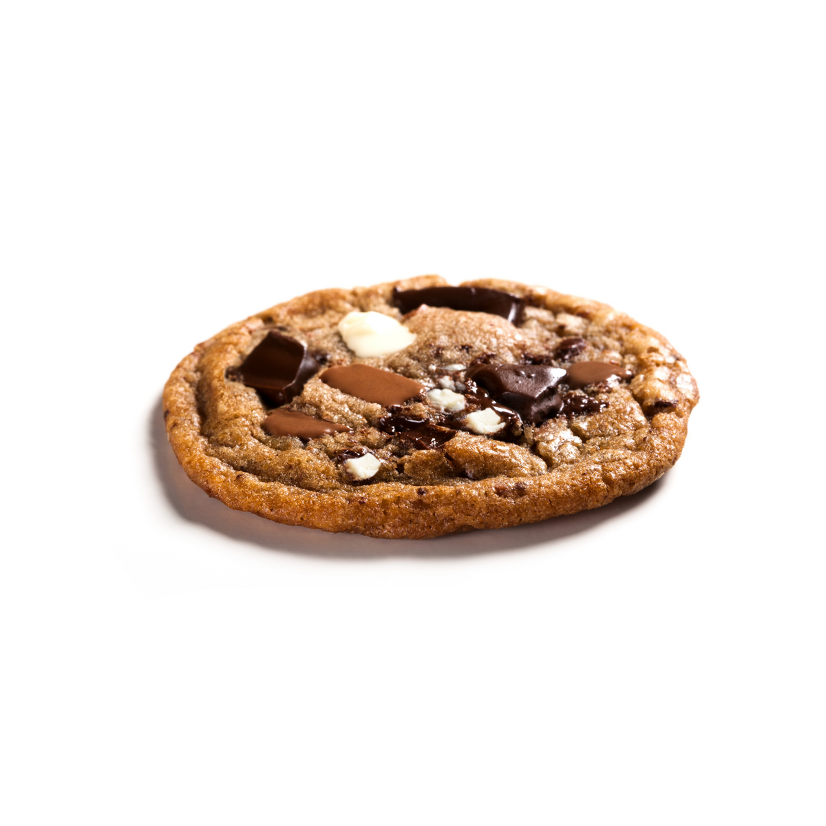 Ménage à Trois® cookie with milk, white, and dark chocolate chunks