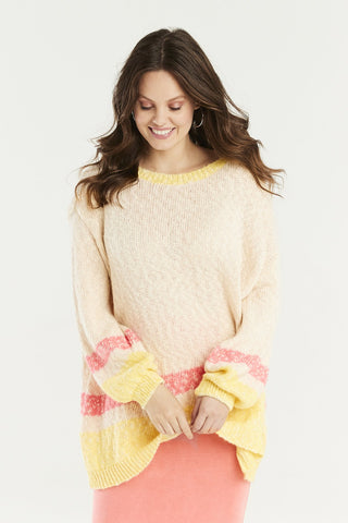 Slouchy cream knit loungewear