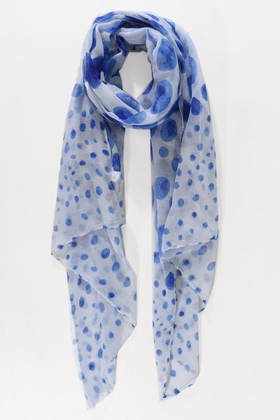 Blue and white womens scarf