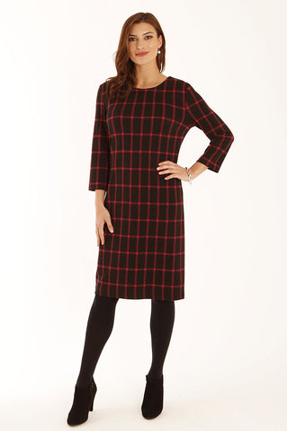 Pink check jersey dress Nantwich Cheshire