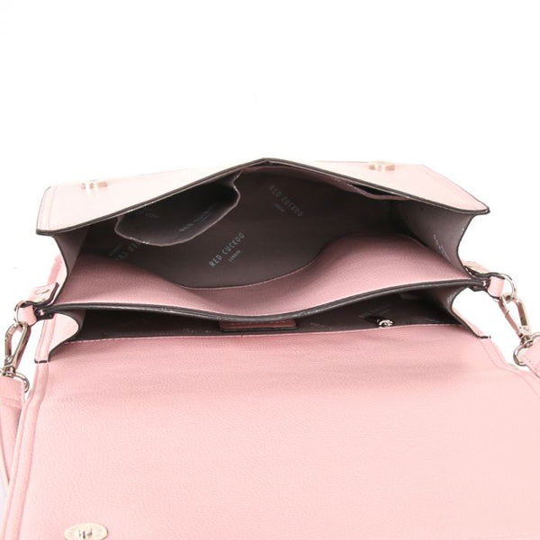 Vegan leather pink crossbody bag