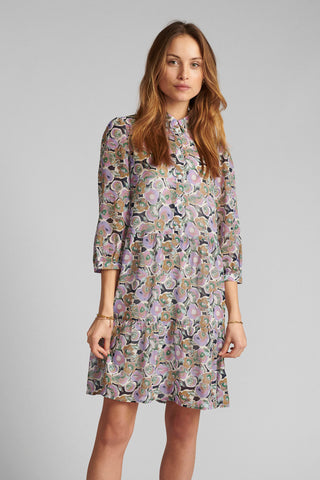 Numph lilac floral knee length dress