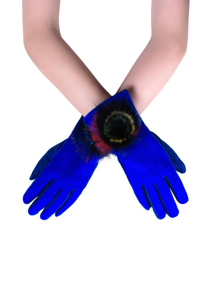 Royal blue ladies gloves