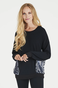 Black animal print sweatshirt