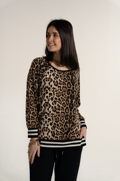 a postcard from brighton anouska animal print sweater